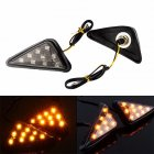 Smoke Triangle Flush Mount LED Turn Signals Blinker