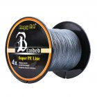 Smooth 500m/547yds 4braid Solid Color Strong Braided Fish Line - Gray 0.16mm-20lb