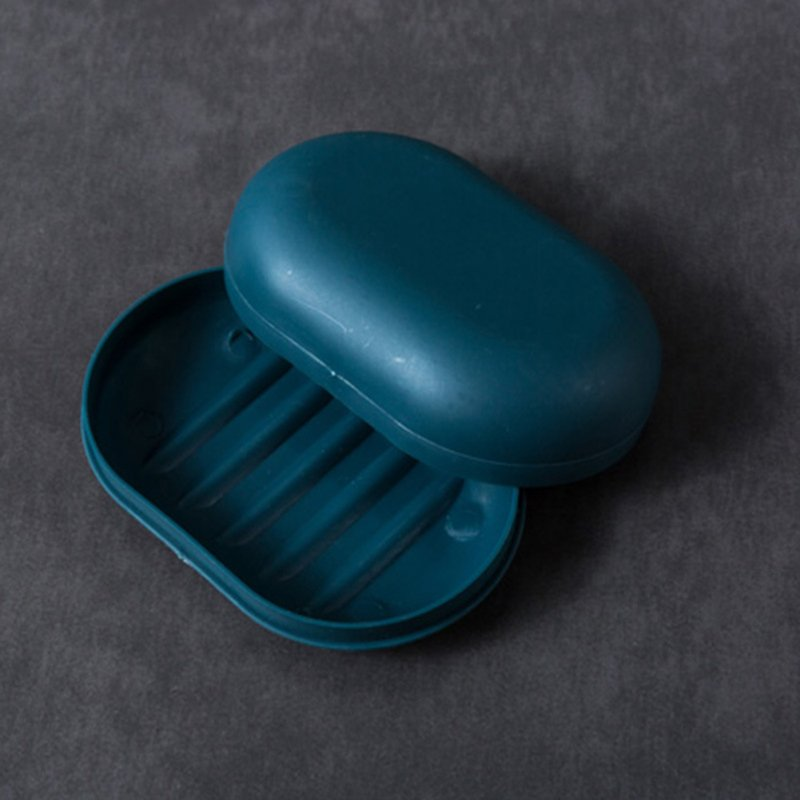 Soap Dish Handmade Plastic Water-Proof Big Candy Color Super Sealed With Lid  Navy blue