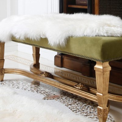 Soft Artificial Rug Chair Cover Bedroom Mat