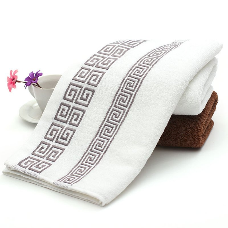 Soft Cotton Absorbent Terry Face Towel Luxury Hand Bath Beach Hair Salon Towels White_White