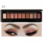 Soft Earthy Matte Pearlescent Warm Smoky Eyeshadow Palette Kit with Mirror 10 Colors