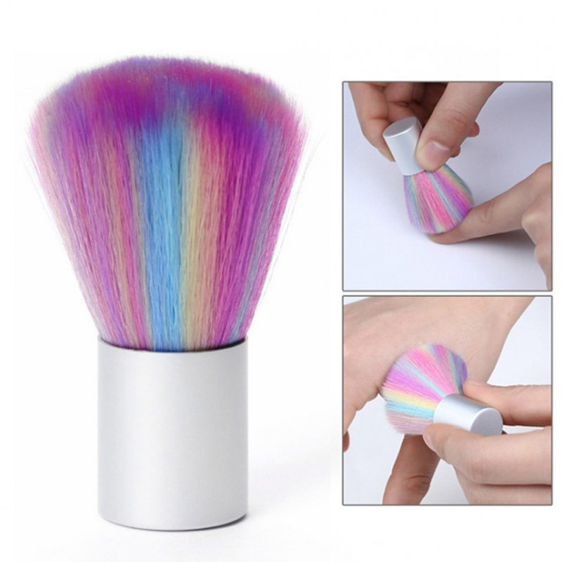 Soft Nail Cleaner Brush Mini Colorful Soft Hair Nail Brush Short Handle Remove Dust Small Cleaning Brush Color mushroom brush