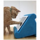 Soft Pillow Pad Reading Bracket for iPad Phone Support blue
