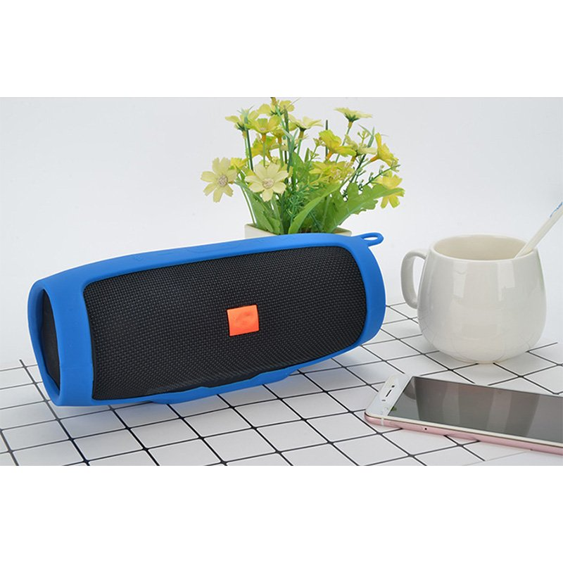 Soft Silicone Case Shockproof Waterproof Protective Sleeve for JBL Charge3 Bluetooth Speaker  blue