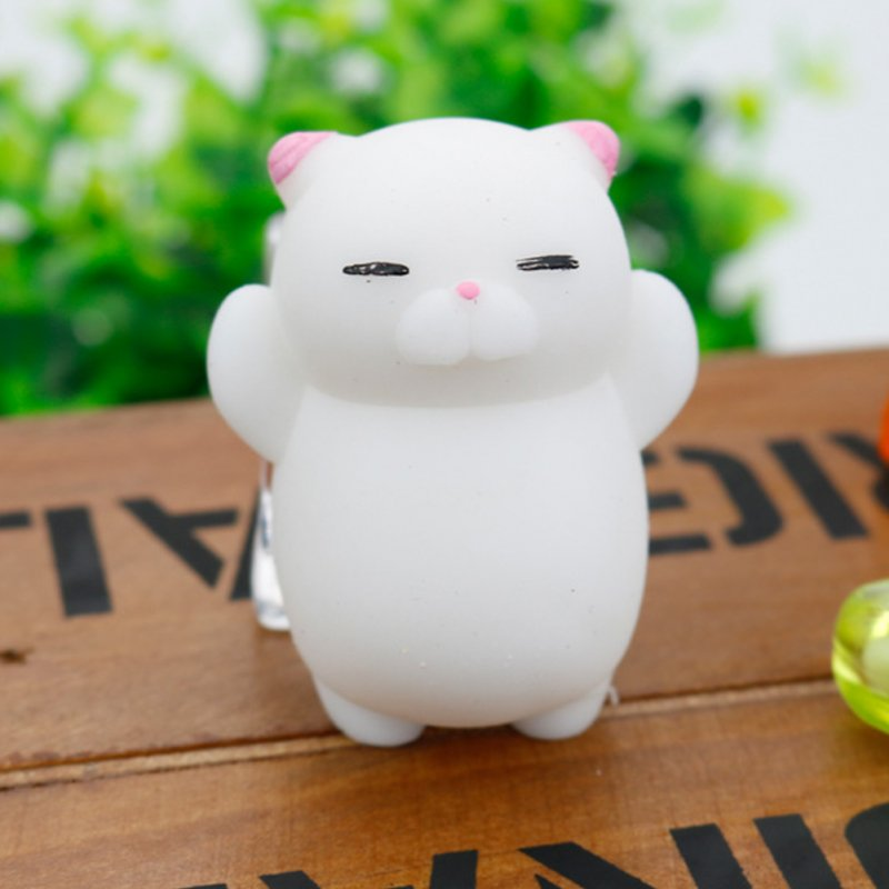 Soft Squishy Pets Stress ReliefToy - Pink cat