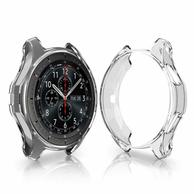 Soft TPU Protector Watch Case Cover for Samsung Galaxy Watch 42mm 46mm Transparent_46mm