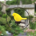 Solar Bird LED Hanging Light Outdoor Garden Lawn Patios Pendant Lamp Yard Decoration yellow_Little bird