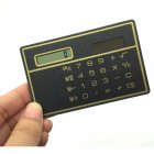 Solar Card Calculator Ultra-thin Handheld Office Computer Student Mini Pocket Calculator black