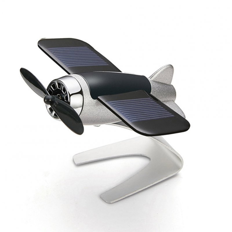 Solar Energy Aromatherapy Aircraft Car Console Interior Decoration lemon silver