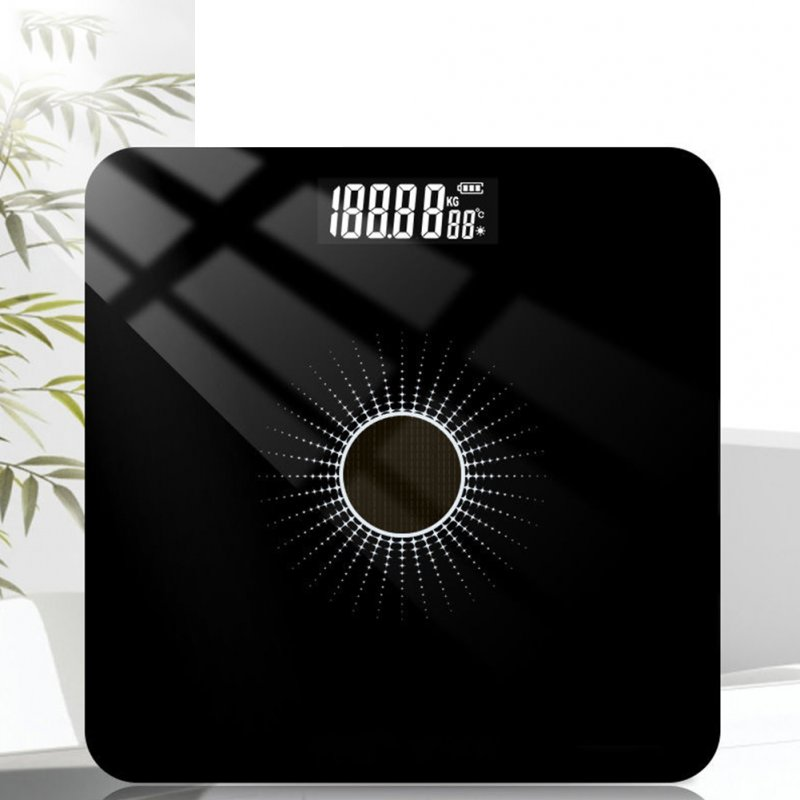 Solar Energy Charging Household Electronic Scale Weight Scale Health Monitor 6037 silver light light energy_26 * 26cm solar charge
