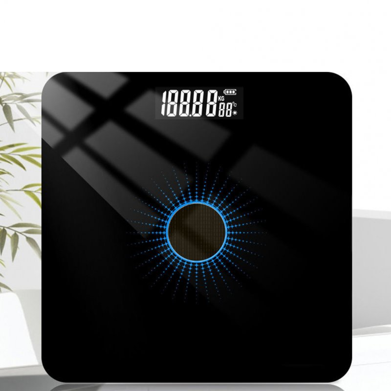 Solar Energy Charging Household Electronic Scale Weight Scale Health Monitor 6037 blue light light energy_26 * 26cm solar charge