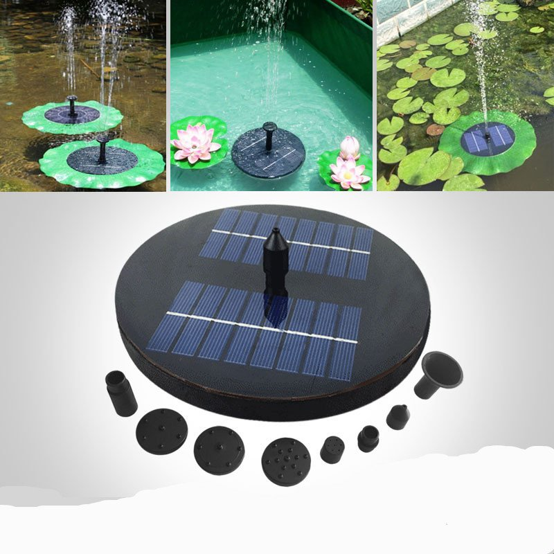 Solar Floating Miniature Landscape Fountain for Home Garden JT-160F