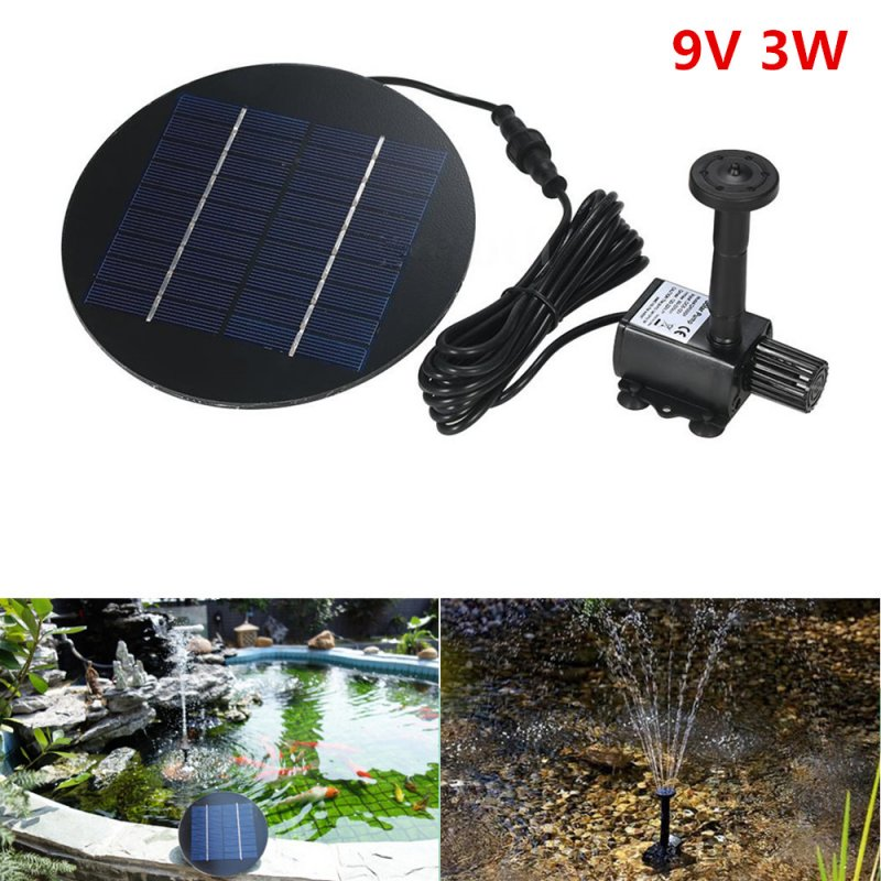 Solar Fountain 9V 3W Round Shape Water Pump