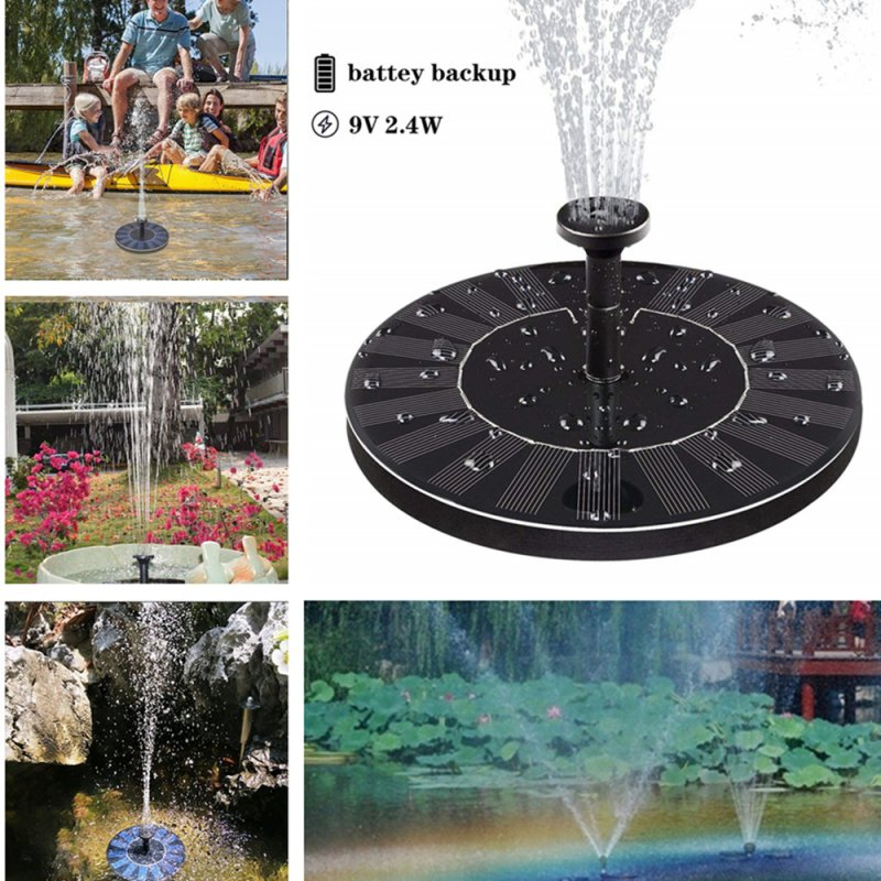 Solar Fountain with Electric Storage for Pond Pool Garden Fish 9V 2.4W AS10C1