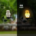 Solar Hanging Light Waterproof Outdoor Gardens Lawn Patios Pendant Lamp Yard Window Decoration Lighting Owl