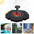 Solar Power Rose Bath Fountain Pump Brushless Pump for Garden Patio Watering black