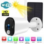 Solar Power Wireless Camera 1080P HD Security Camera Waterproof Survelliance Solar Panel Night View white