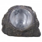 Solar Powered Decorative Resin Stone Spot Light, Outdoor Water Resistant LED Landscape Lamp for Garden/Yard 14 * 11 * 11cm
