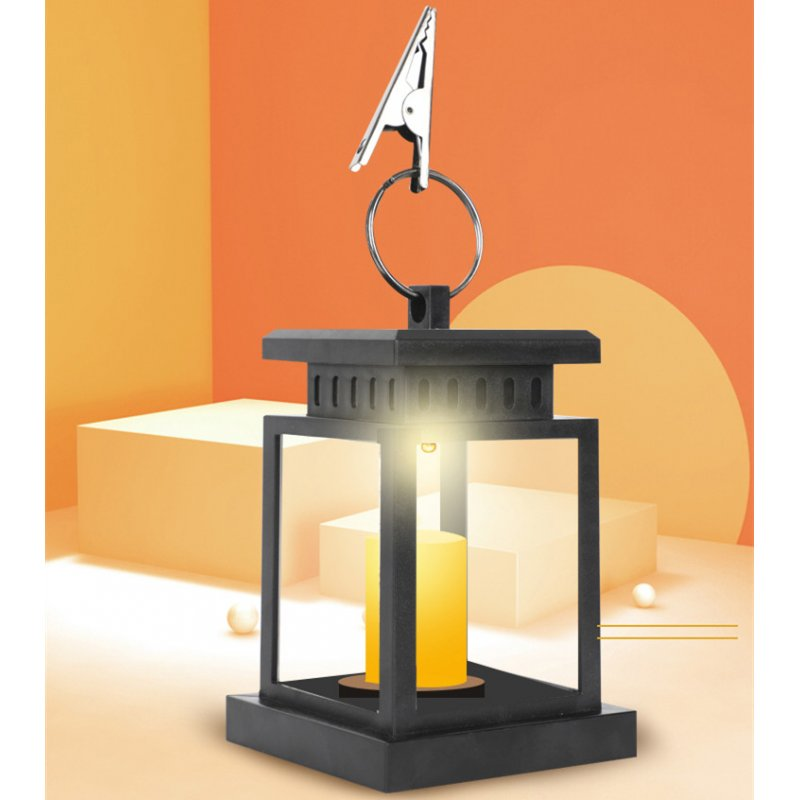 Solar Powered LED Candle Star Light Table Lantern Hanging Lawn Lamp For Garden Outdoor