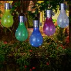 Solar Powered LED Hanging Lamp with Light Sensor Decorative Bulb Lawn Lamp for Outdoor Camping  Color Light Source