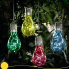 Solar Powered LED Hanging Lamp with Light Sensor Decorative Bulb Lawn Lamp for Outdoor Garden Camping