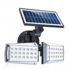 Solar Powered LED Wall Light Outdoor Motion Sensor Waterproof Street Light 42LEDs 20W  42 LEDs