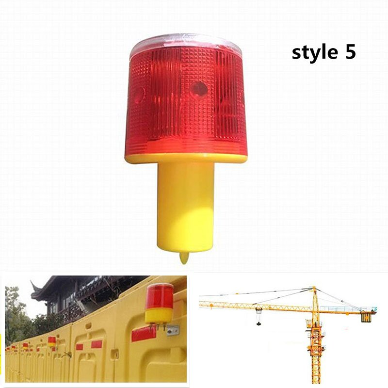 Solar Powered Traffic Warning Light LED Bulb Lamp for Construction Site Harbor Road Emergency Lighting Model 5
