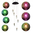Solar Powered Wishing Bottle Wind Chime Light LED Color Changing Lamp for Home Garden Yard Patio Decor Colorful