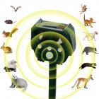Solar Waterproof Outdoor Ultrasonic Dispeller for Mice Pest Bird Hare Fox Cat Dog
