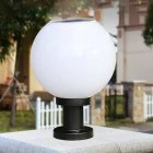 Solar powered Ball shape LED Wall Light Fence Street Lamp Decoration 200mm