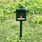 Solar-powered Ultrasonic Animal Dispeller with Sharp Flash Infrared Light Bird Repeller  dark green_512