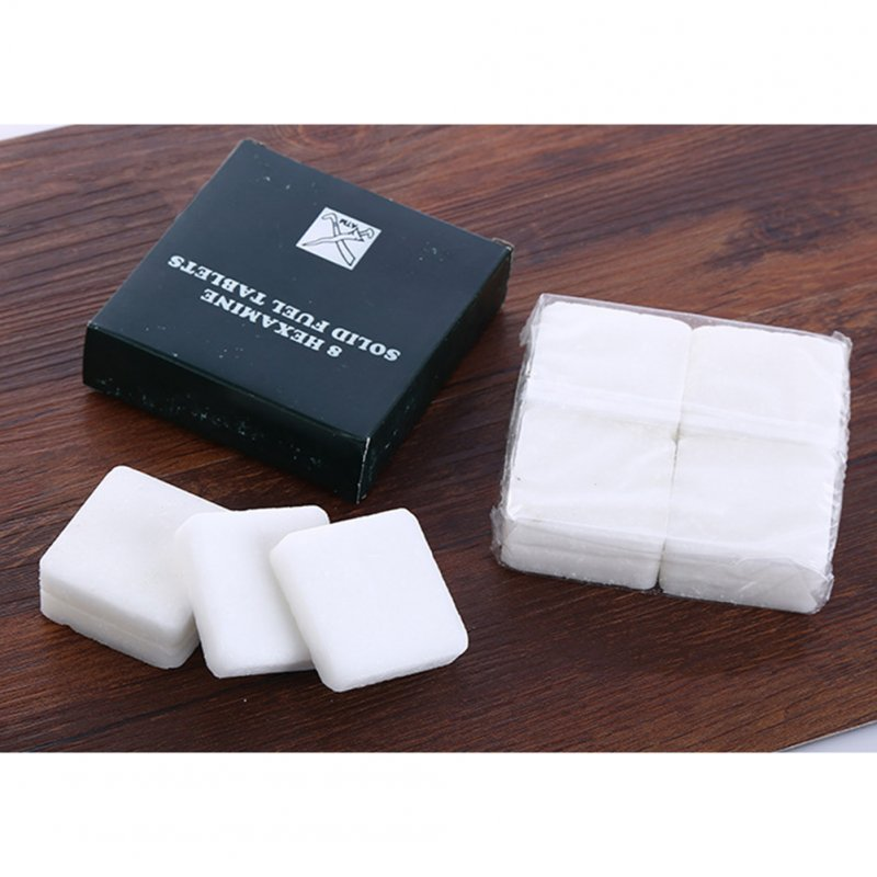 Solid Alcohol Charcoal Solid Combustion Block Burn Fire Block for Outdoor Picnic Activities 4 pieces in a box