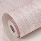Solid Color Vertical Pinstripe Non Woven Wallpaper for TV Background Decor 10M light pink