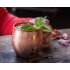 Solid Copper Moscow Mule Mugs  18 Ounce Unlined Mug  Drinking Cup Perfect for Cocktails Iced tea and Beer