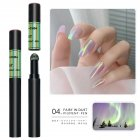 Solid Powder Air Cushion Magic Pen Nail Art Magic Mirror Effect Phantom Nails Pen Manicure Tools Aurora Mirror-04#