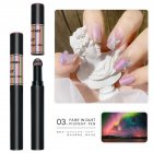 Solid Powder Air Cushion Magic Pen Nail Art Magic Mirror Effect Phantom Nails Pen Manicure Tools Aurora Mirror-03#