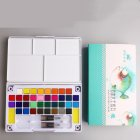 Solid Watercolor Paint Set with Watercolour Brush Bright Color Pigment Set Art Supplies 36 color