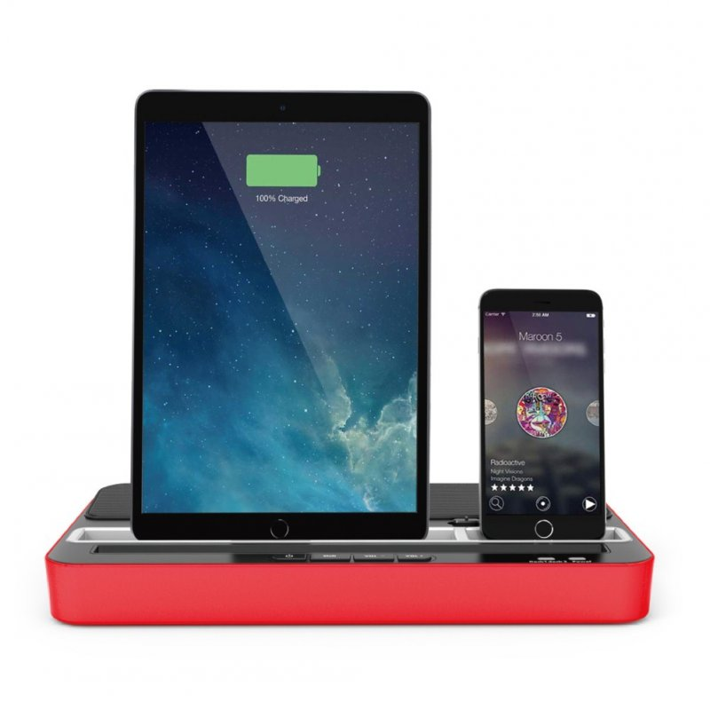 Sound Function Multipurpose Charging Base for Switch/Android/IOS Mobile Phone Tablet Red