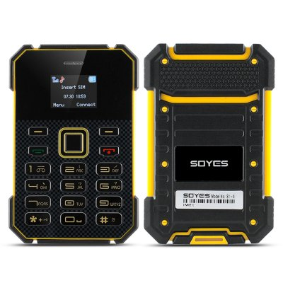 Soyes S1 Ultra Slim Bar Phone (Yellow)