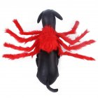 Spider Shape Clothes Pet Halloween Christmas Chest Back Strap Costume for Small Dogs Cats red M