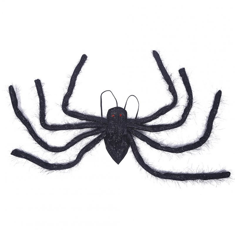 Spider Shape Decorative Wings Halloween Party Simulation Spider Props Ghost House Decor 150cm
