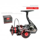 Spinning Fishing Reel Metal Front Drag Handle Spool Saltwater Fishing Accessories DS6000