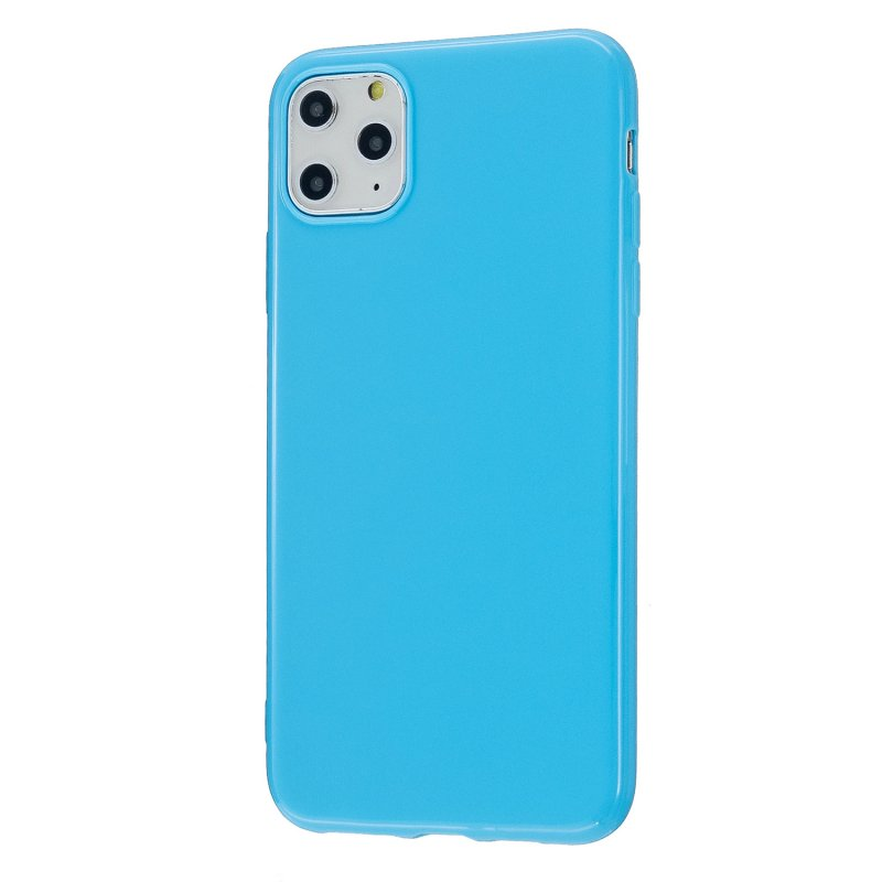For iPhone 11/11 Pro/11 Pro Max Smartphone Cover Slim Fit Glossy TPU Phone Case Full Body Protection Shell Ocean blue