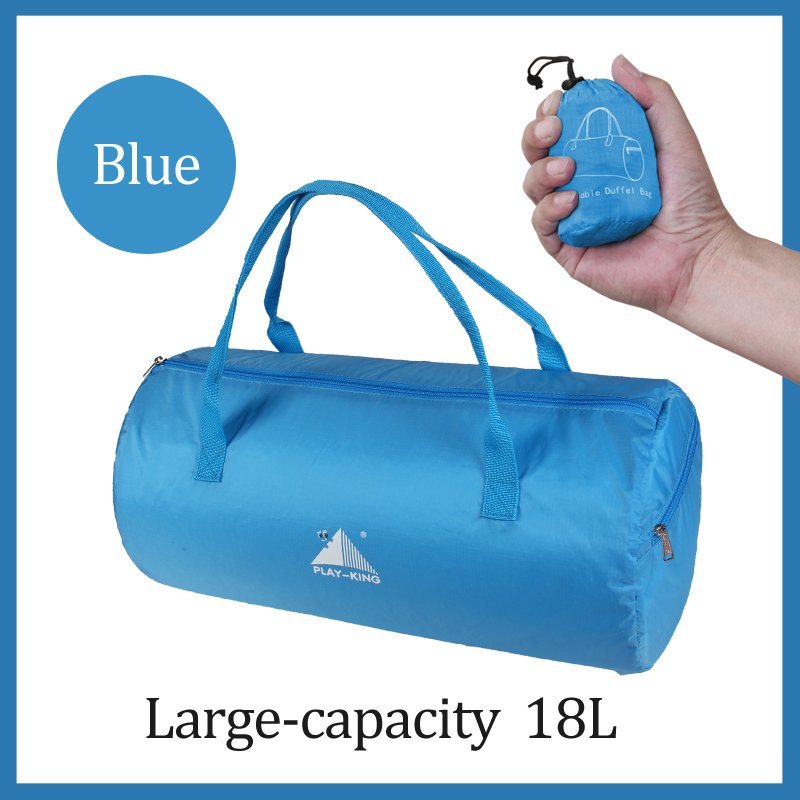 Sport Training Gym Bag Wearable foldable travel bag Waterproof bags Outdoor Sporting Tote sport bag blue_18 inches
