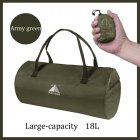 Sport Training Gym Bag Wearable foldable travel bag Waterproof bags Outdoor Sporting Tote sport bag ArmyGreen_18 inches