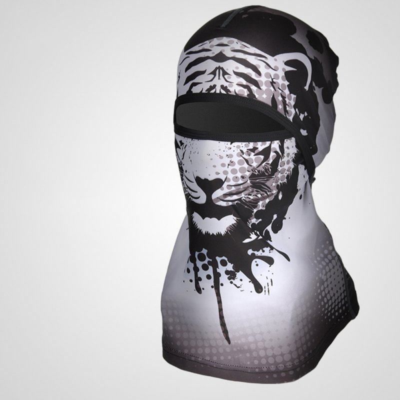 Sports Headwear Motorcycle Riding Headgear Magic Sport Scarf Full Face Mask Balaclava One size_White Tiger F