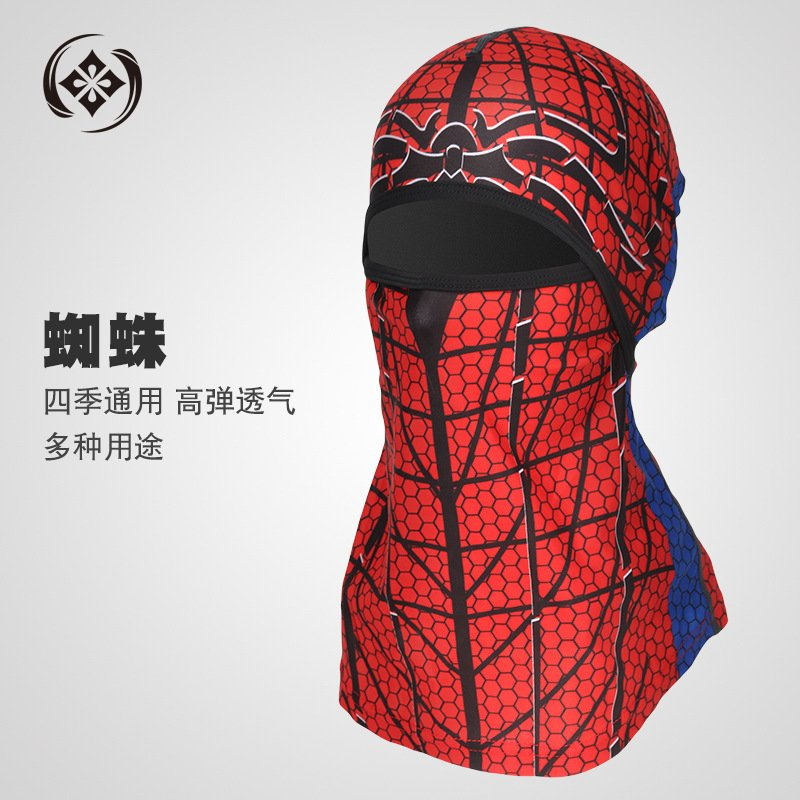 Sports Headwear Motorcycle Riding Headgear Magic Sport Scarf Full Face Mask Balaclava One size_Spider C