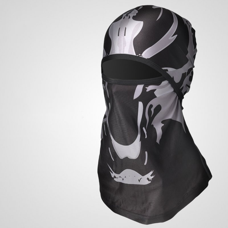 Sports Headwear Motorcycle Riding Headgear Magic Sport Scarf Full Face Mask Balaclava One size_Ghost Wolf H