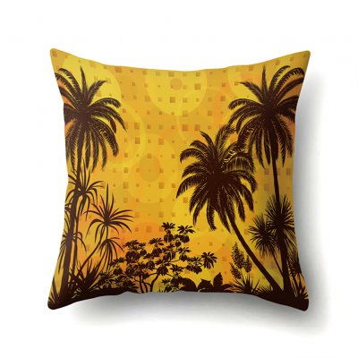 Square Beach Sea Pillowcase Cushion Throw Pillow Cover Printed Living Room Sofa Pillow Case 45*45cm CCA422(6)